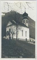 Schlosskirchl in Thaur. Gelatinesilberabzug 9x14cm; A(lfred). Stockhammer, Hall in Tirol; postalisch gelaufen 1931. Inv.-Nr. vu914gs00379