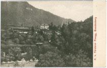 Forsthaus in Pinegg, Gemeinde Brandenberg, Bezirk Kufstein, Tirol um 1905. Lichtdruck 9 x 14 cm; Impressum: Verlag S. Rupprechter, Aschau (Gemeinde Brandenberg).  Inv.-Nr. vu914ld00059