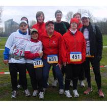 Mit einem Teil der Down-Syndrom Marathonstaffel © laufende Nase