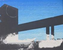 Dunkle Brücke  2012, 24 x 30 cm  (Privatbesitz, Leipzig)