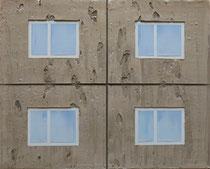 4 Fenster   2018, Öl auf Leinwand, 36 x 44 cm
