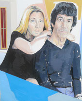 Ladonna & Larry (Portrait of Ladonna Nicolas & Larry Shapin), Oil on Canvas, 30 x 24 inches, 2015