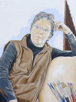 Lynn (Portrait of Lynn Gitter), Oil on Canvas, 40 x 30 inches, 2014