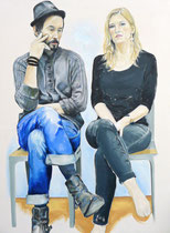Russel & Shelley (Portrait of Russel & Shelley Hulsey), Oil on Canvas, 48 x 36 inches, 2015