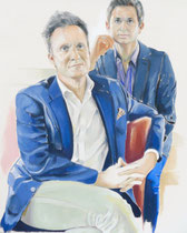 Theo & Joshua (Portrait of Theo Edmonds & Joshua Miller), Oil on Canvas, 30 x 24 inches, 2015