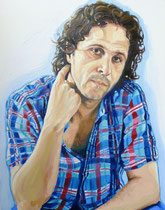 Self Portrait, Oil on Canvas, 30 x 24 inches, 2013
