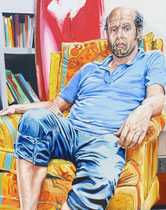 Will (Portrait of Will Oldham), Oil on Canvas, 60 x 48 inches, 2012