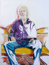 Ron (Portrait of Ron Whitehead), Oil on Canvas, 48 x 36 inches, 2013