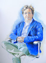 Gill (Portrait of Gill Holland), Oil on Canvas, 40 x 30 inches, 2014