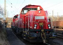 Zwei DB Gravita-Loks Baureihe 261 in Blankenburg, 16.12.2013