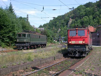 171 001 und 171 014 im Bahnhof Rübeland, 01.08.2003