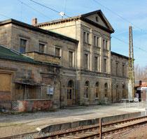 Bahnhofsgebäude Blankenburg, Gleisseite, 2013