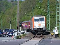 Diesellok 285 001 als Ersatz für 95 027 in Rübeland, 23.05.2010