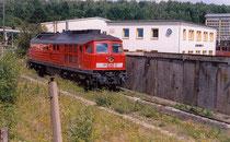 Lok 241 008 als Bergreserve im Bw Blankenburg am 01.08.2003