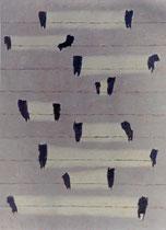 """""""System (2)"""", 1997, Öl auf Nessel, 150 x 110 cm"""