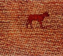 """Red Dog"", 2003, Öl auf Leinwand, 115 x 130 cm"