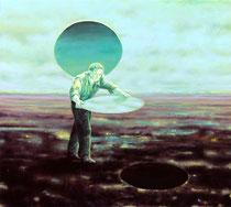 """""""Tauscher"""", 2020, Öl auf Leinwand, 130 x 145 cm"""