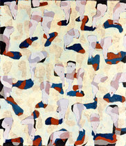 O.T., 1995, Öl auf Leinwand, 130 x 114 cm