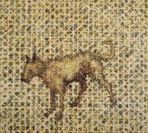 """Yellow Dog"", 2004, Öl auf Leinwand, 115 x 130 cm"