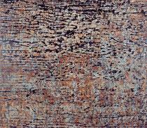 "O.T. (""Diluver""), 2002, Öl auf Seidenpapier und Leinwand, 195 x 222 cm"