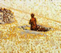 """Werk"", 2019, Öl auf Leinwand, 130 x 150 cm"