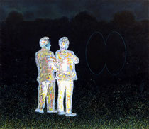 """""""In die Nacht schauend"""", 2019, Öl auf Leinwand, 130 x 150 cm"""