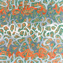 O.T. 1995, Acryl auf Nessel, 73 x 73 cm