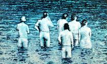 """""""Im Wasser"""", 2010, Öl auf Leinwand, 90 x 150 cm"""