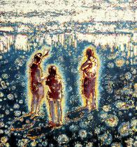 """Daleko"", 2018, Öl auf Leinwand, 75 x 70 cm"