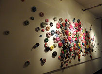 Installation à l'Atelier-Galerie Bleu à Lille, 2016