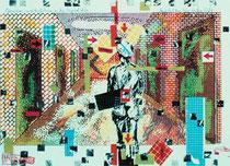Anya auf dem Weg in die Welt, 40 x 55cm, 1986, silkscreen print