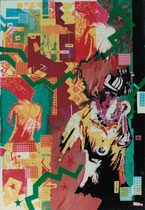 Anya aime les cicatrices, 50 x 70cm, 1987, silkscreen and tempera colour on paper