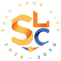 Salt Lake City (États-Unis, candidature d'abord envisagée pour 2030 ; puis soit pour 2026, soit pour 2030 ; deuxième logo)