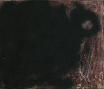 o.T., 2009, Kreide, Ölfarbe und Sprühlack auf Leinwand