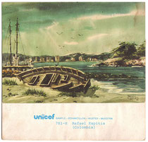 "Watercolor ""Marina"" by Rafael Espitia UNICEF greeting card"