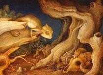 Naturaleza muerta con camaleón II