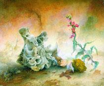 Naturaleza inerte con orquídea