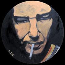 """""""Aurèle A-B"""" (série smoking place), 40cm – portrait de l'artiste Aurèle Andrews Benmejdoub"""