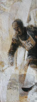 Zeno Colò, nido d'aquile. 2012, 80x30, olio su tela.
