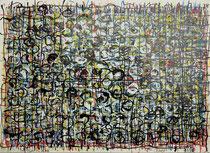 Sbocciare (Knospen), 1991, Acrylfarbstifte und Acryl auf Papier, 33 x 24 cm