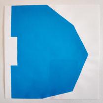 Cut Up Paper n° 4 , Acryl auf Papier, 30 x 30 cm