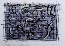 Tutto può accadere (Alles ist möglich) 2013 Ölkreide, Acryl und Öl auf Papier 24 x 33,5 cm
