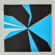 Cut Up Paper n° 3 , Acryl auf Papier, 30 x 30 cm