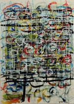 Vedo fiori (Ich sehe Blumen) 1992, Tusche auf Papier 14,4 x 21 cm