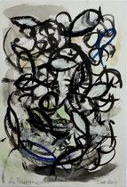 La trasformazione (Die Verwandlung) 2013 Ölkreide und Acryl, 14,5 x 21 cm