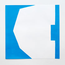 Cut Up Paper n° 2, Acryl auf Papier, 30 x 30 cm