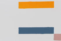 Dirk Rausch: Siebdruckunikat, 2015, 19 x 28 cm,  im Alu-Magnetwechselrahmen der Firma Halbe, Farbe Silber matt (Profil 1 cm, Höhe 2,7 cm)