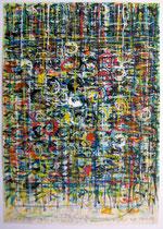 Vedo fiori d´inverno (Ich sehe Blumen im Winter) 1992 Acrylstifte, Acryl auf Papier, 21 x 30, 5 cm