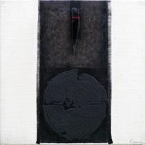 Anima rossa 2004-50x50/legno-tela