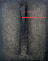 Anima elevata 2004-56x44/smalti-legno/tela